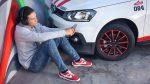 Volkswagen Gol PANAM tenis y rines detalles en rojo