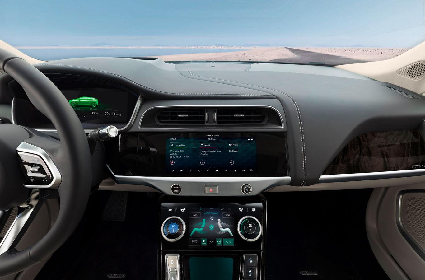 Jaguar i-Pace 2019 consola