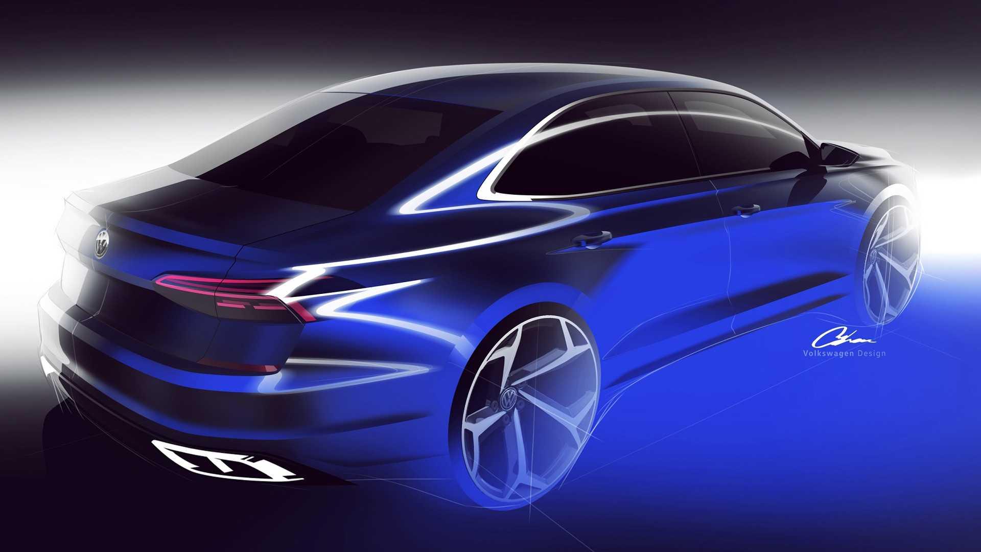 Volkswagen Passat 2020 teaser posterior