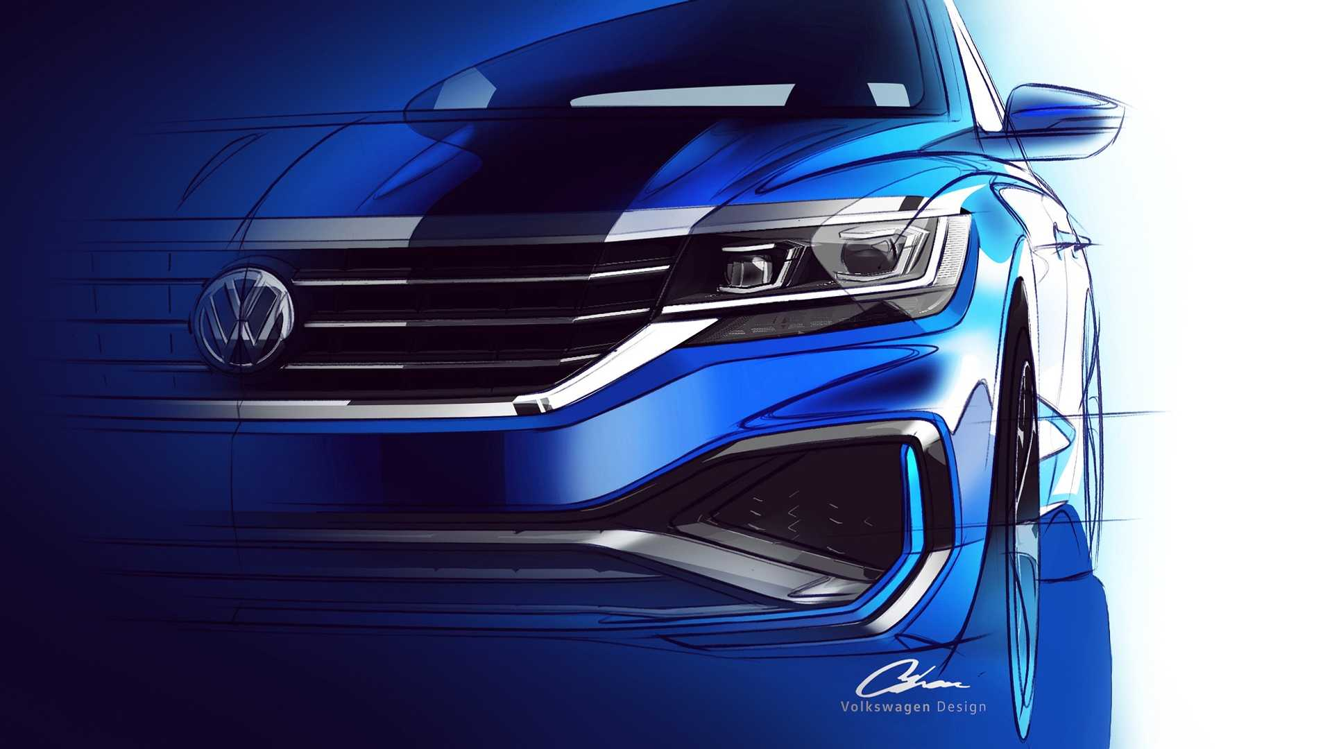 Volkswagen Passat 2020 teaser frente