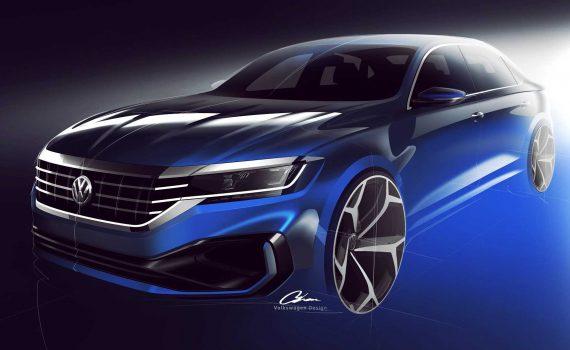 Volkswagen Passat 2020 teaser perfil