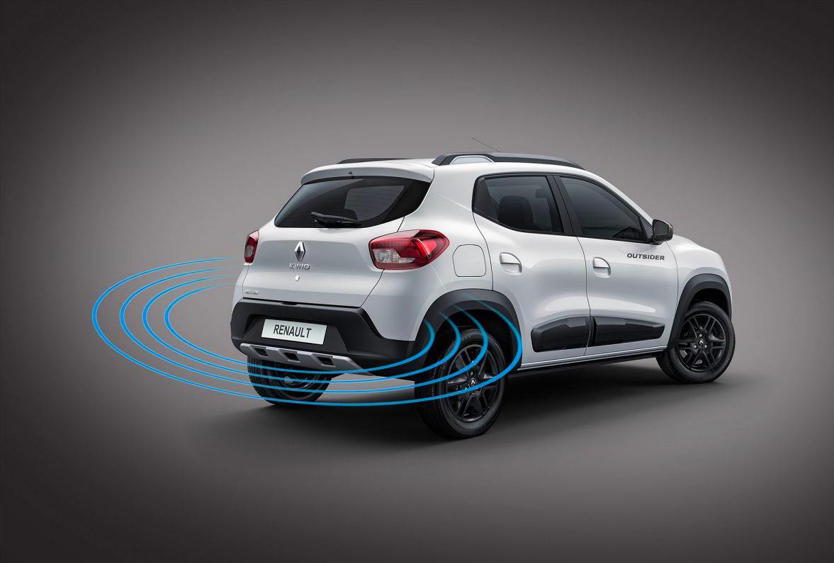 Renault KWID 2019 México, diseño exterior sensores