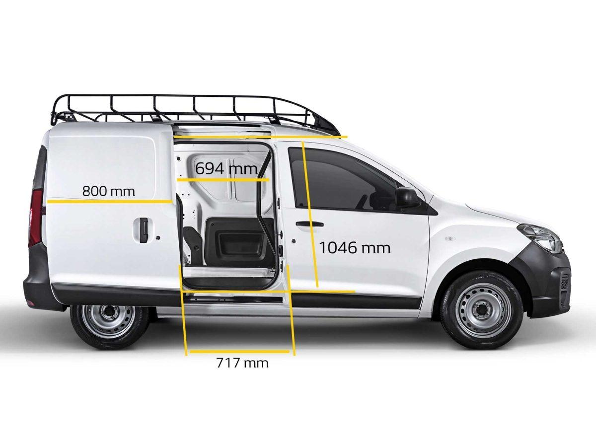 Renault Kangoo 2019 en México, dimensiones puerta lateral