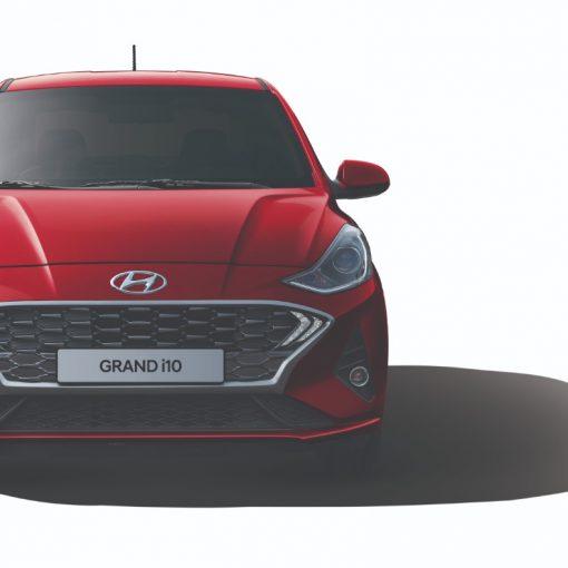 Hyundai Grand i10 2021 Frente renovado con cofre y parrilla