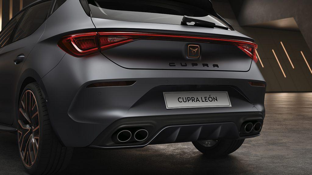 CUPRA León 2021 en México - exterior posterior escapes dobles