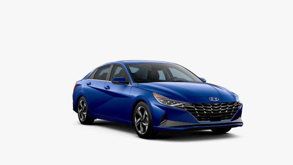 Hyundai Elantra 2002 México diseño exterior color azul