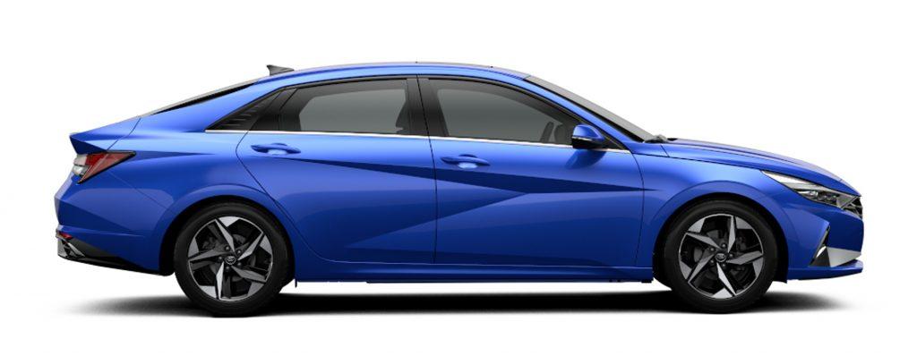 Hyundai Elantra 2022 México lateral