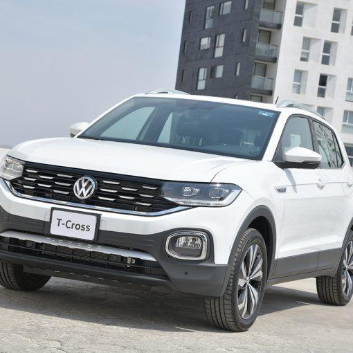 Volkswagen T-Cross 2021 en México color blanco
