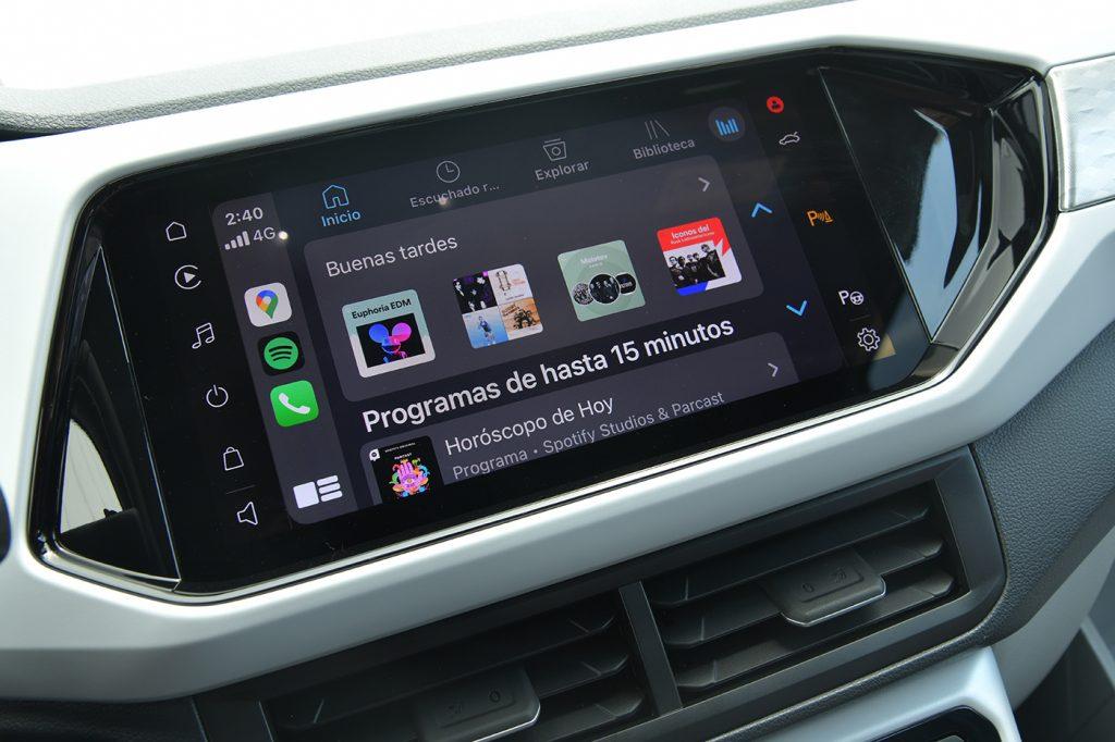 Volkswagen T-Cross 2021 en México interior pantalla de 10 pulgadas
