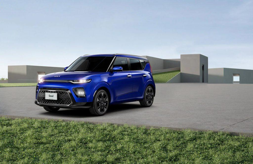 Kia Soul 2022 en México diseño exterior con nuevo logo color azul