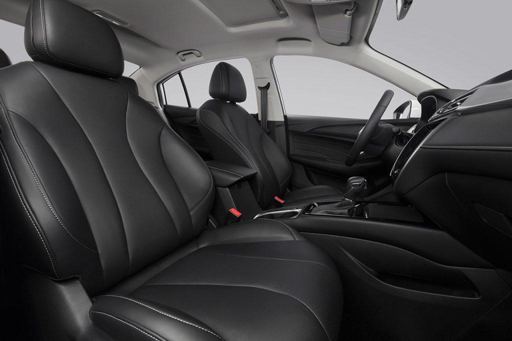 MG 5 2021 en México interiores asientos