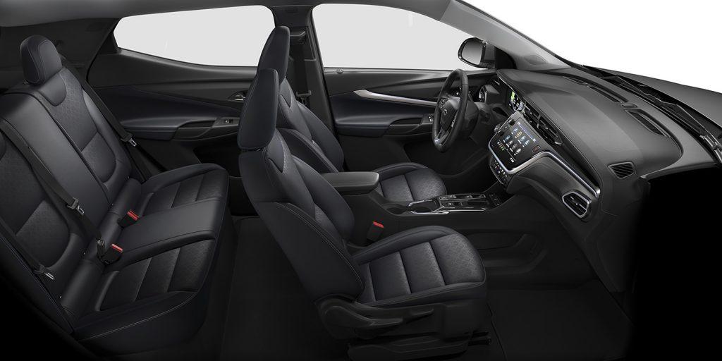 Chevrolet Bolt EUV 2022 en México asientos interiores