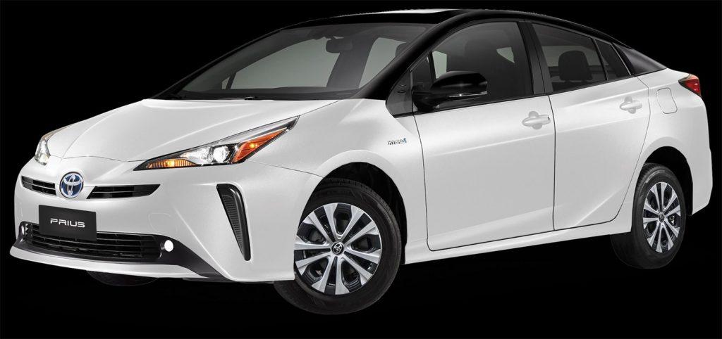 Toyota Prius 2022 en México color bitono blanco con negro