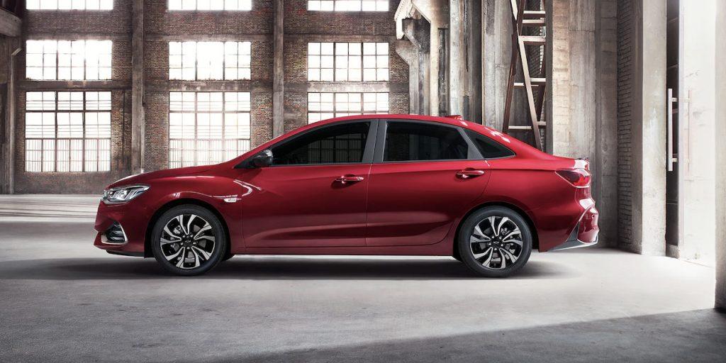 Chevrolet Cavalier RS Turbo 2022 exterior nuevo diseño lateral