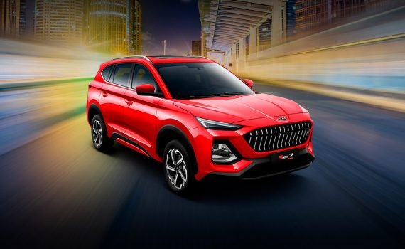 JAC Sei7 Pro 2022 en México color rojo diseño exterior