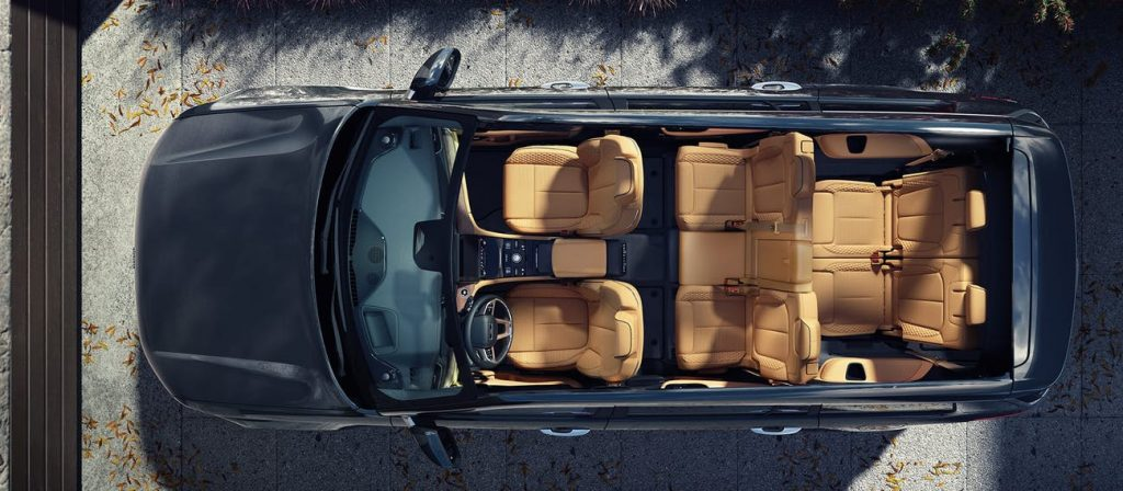 Jeep Grand Cherokee L 2021 en México - vista aérea de los asientos y tres filas