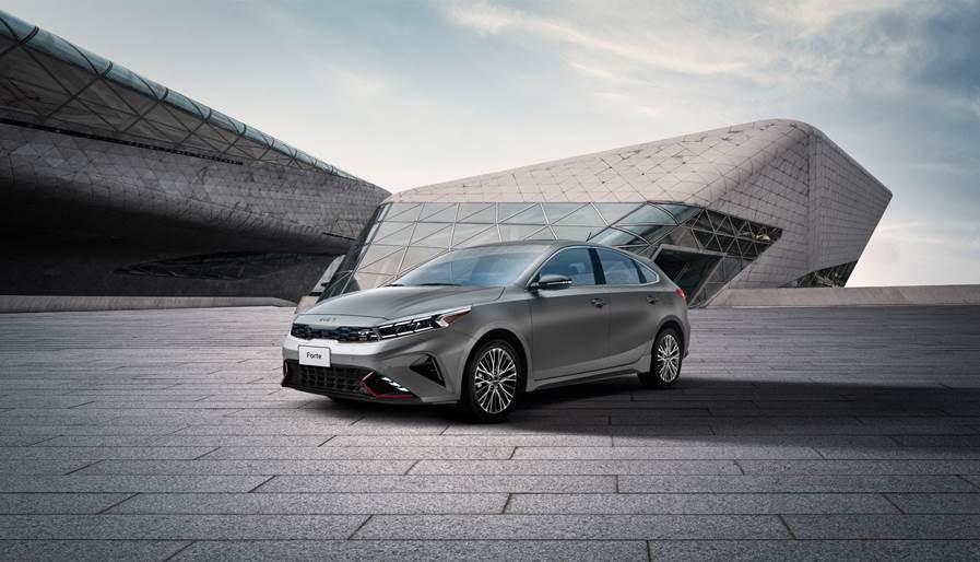 Kia Forte Hatchback 2022 en México exterior nuevo frente faros LED y rines