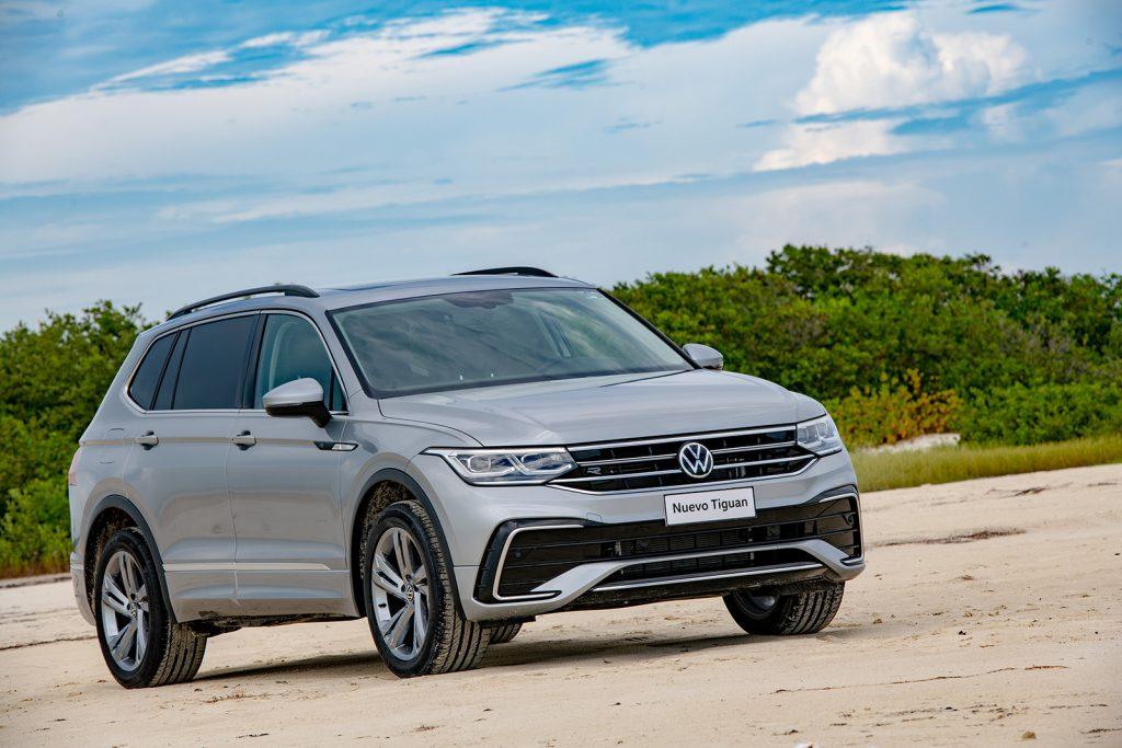 Volkswagen Tiguan 2022 en México - diseño exterior frente faros LED parrilla defensa