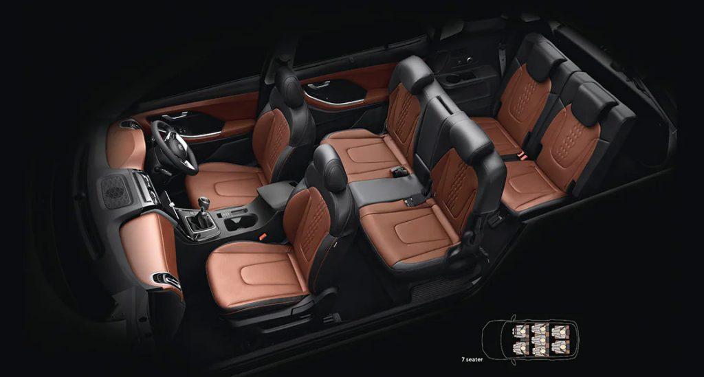 Hyundai Creta Grand 2022 tres filas de asientos configuración 6 y 7 pasajeros