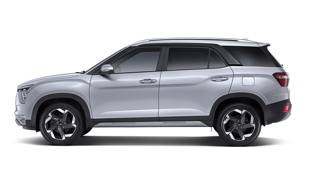 Hyundai Creta Grand 2022 en México lateral, cuenta con espacio para hasta 7 pasajeros